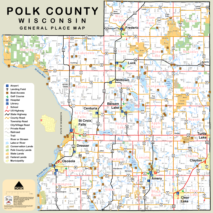 Polk County Zoning Map Our Lakes and Rivers